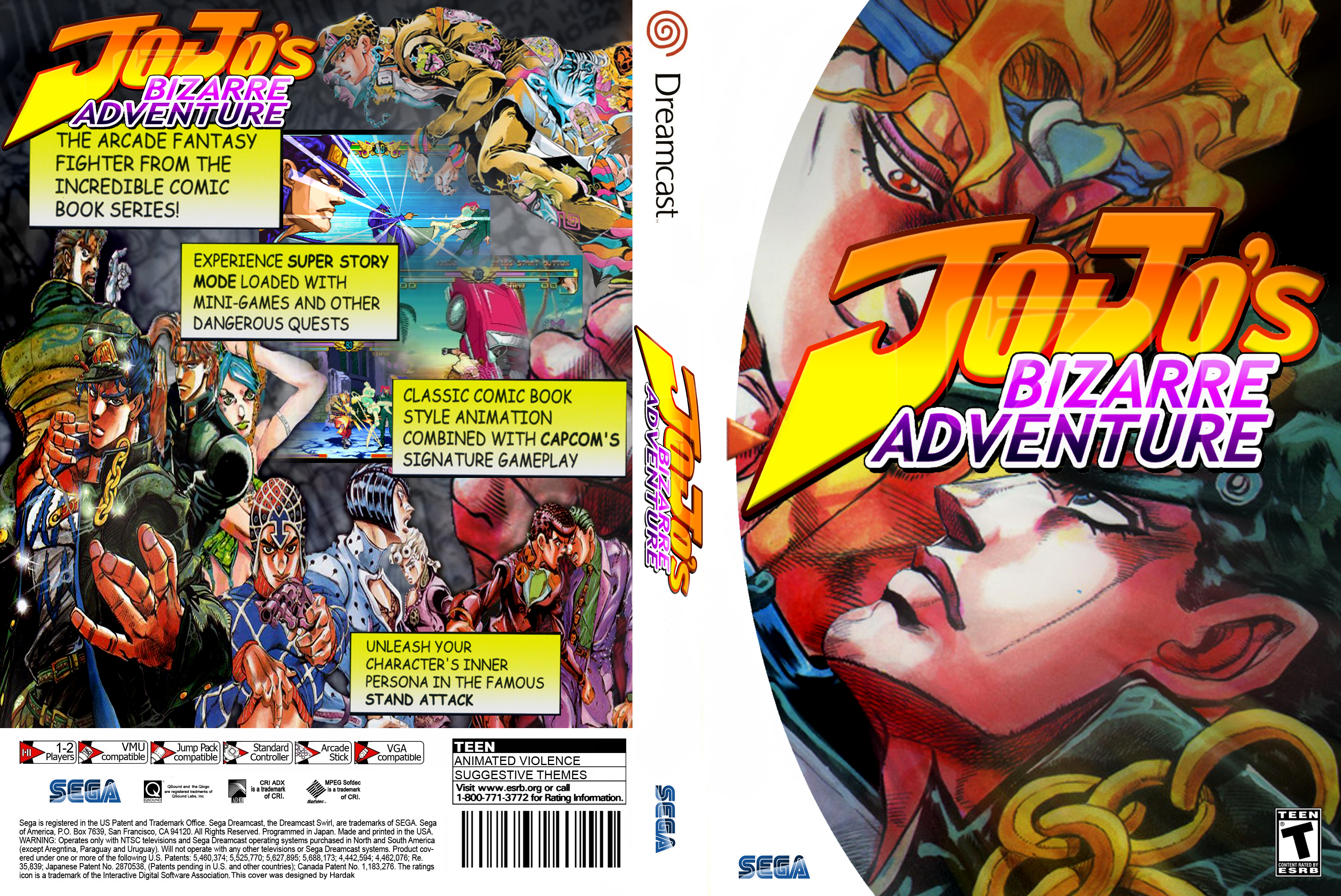 Bases torneo Jojo´s Bizarre Adventure (Dreamcast) – 4Players