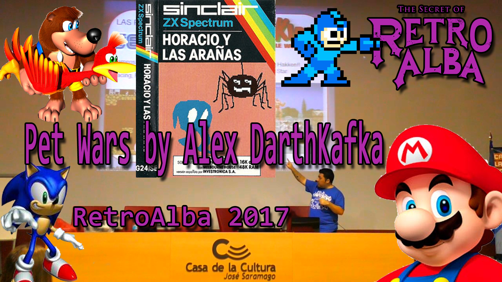 RetroAlba 2017 Charla Pet Wars by Alex DarthKafka
